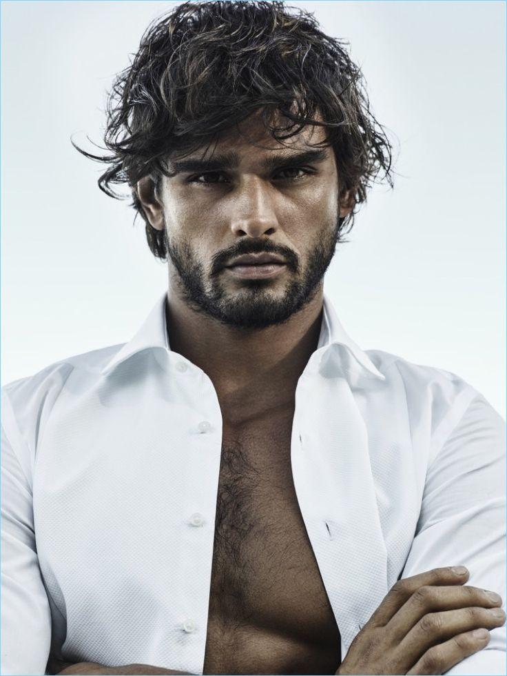 Marlon Teixeira fronts the Jimmy Choo Man Ice fragrance campaign.