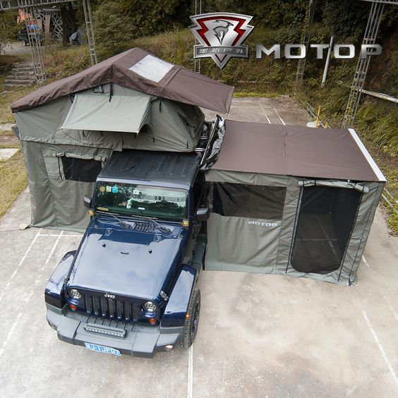 2018 Sections Motop Genuine Roof Tent Outdoor Self Driving Two Man Car Tent Side Account Sky Jeep Trailor Tent Overland Jeep Tent Roof Tent Jeep Camping