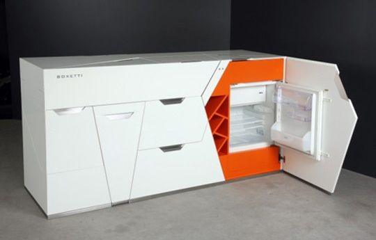 In case you are currently living in a one room studio, Ultra Modern Compact Kitchen By Boxetti