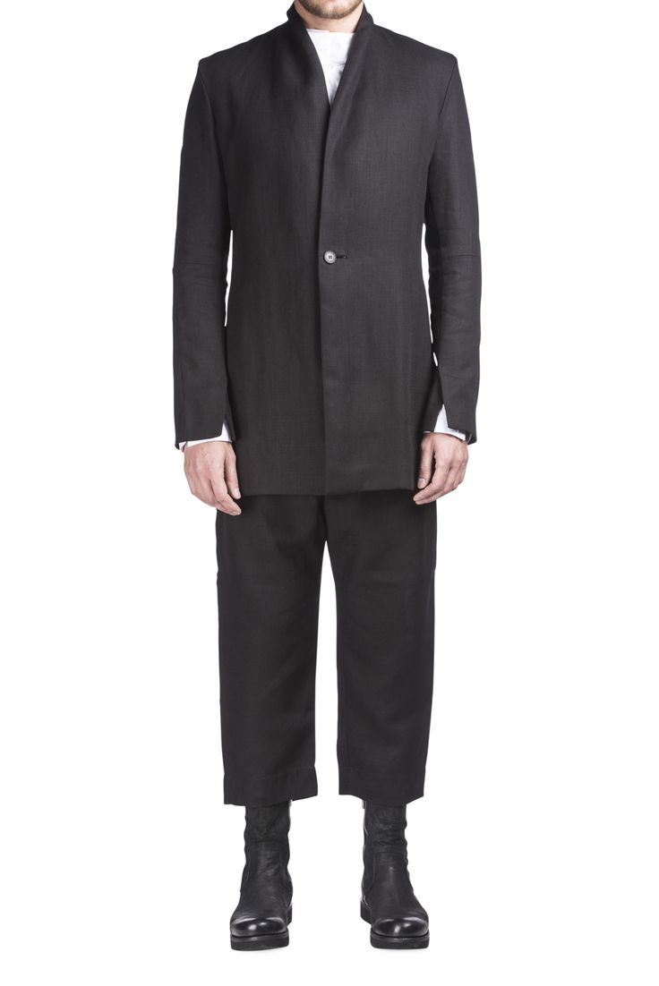 Sosnovska Black Linen Jacket #Shopafar #Sosnovska #avantgarde #menswear #fashion #luxury
