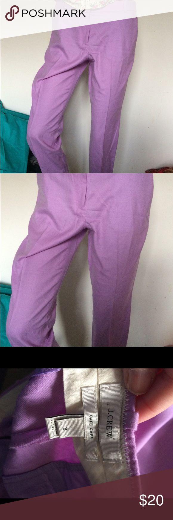 J Crew Capri Purple cafe crapri.. very pretty color. Great condition smoke free home J Crew Pants Capris