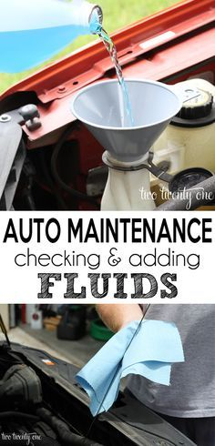 Great information to know! How to check and add fluids