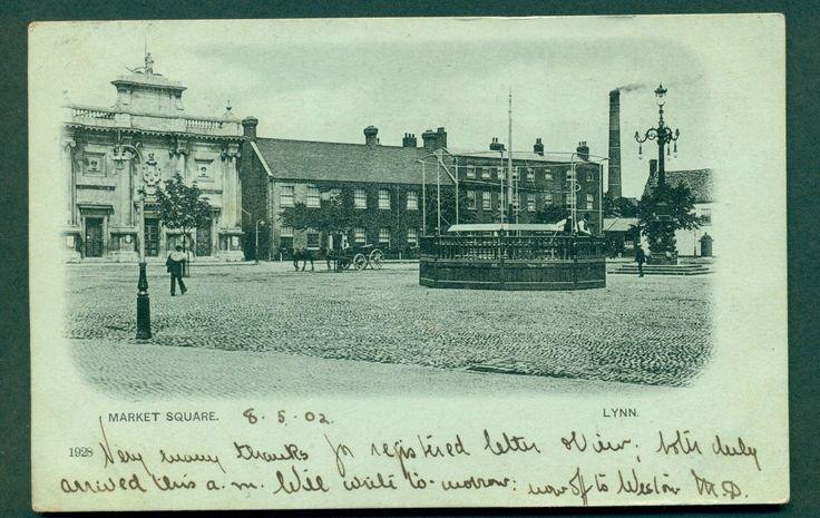 1 of 1: LYNN,MARKET SQUARE,NO 1928, vintage postcard