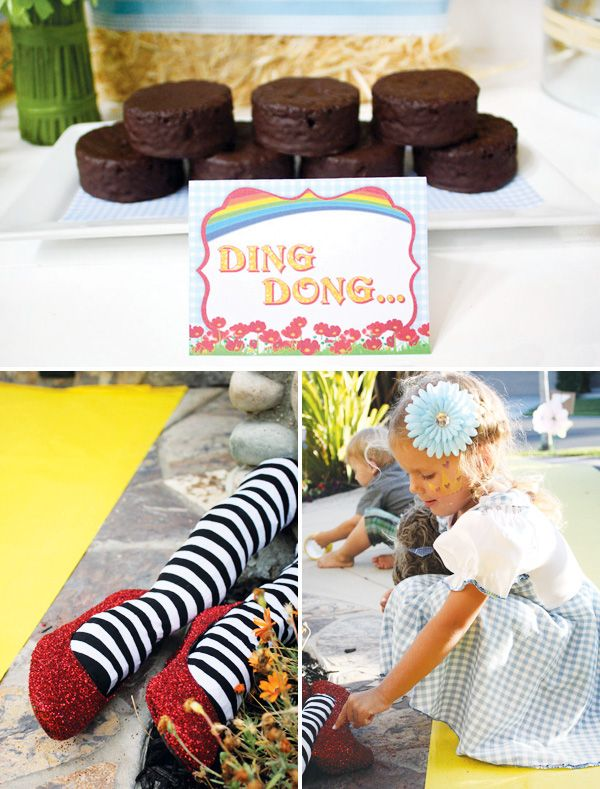 """Clever """"Over the Rainbow"""" Wizard of Oz Birthday Party"""