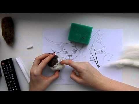 SHAPING FACE  Сухое валяние: Мастер класс по валянию мордочки для валяной игрушки.Мимика. - YouTube
