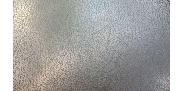 Plaque d'inox décoratif texture cuir et filmé