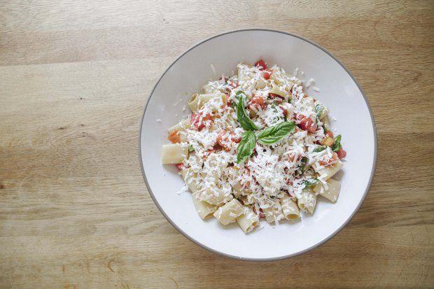 Summer Pasta with Heirloom Tomato Sauce and Ricotta Salata