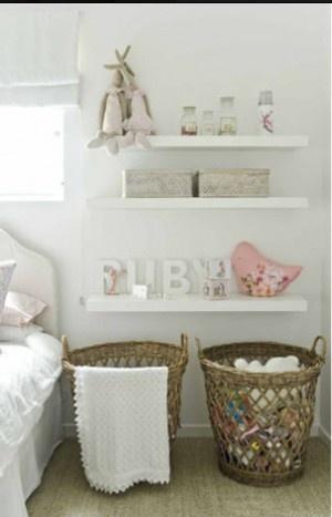 Little Girls room : Sarah Gordon Home I like the white on white on white scheme. So sweet for a baby girl