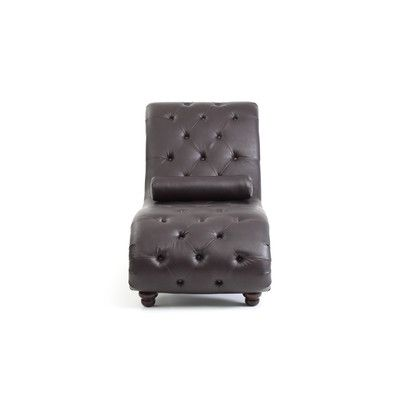 Renhold Chaise Lounge Upholstery: Brown - http://delanico.com/chaise-lounges/renhold-chaise-lounge-upholstery-brown-725809746/