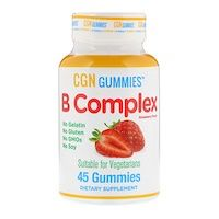California Gold Nutrition B Complex Gummies No Gelatin No Gluten Natural Strawberry Flavor 45 Gummies Gummy Vitamins Nutrition Gummies