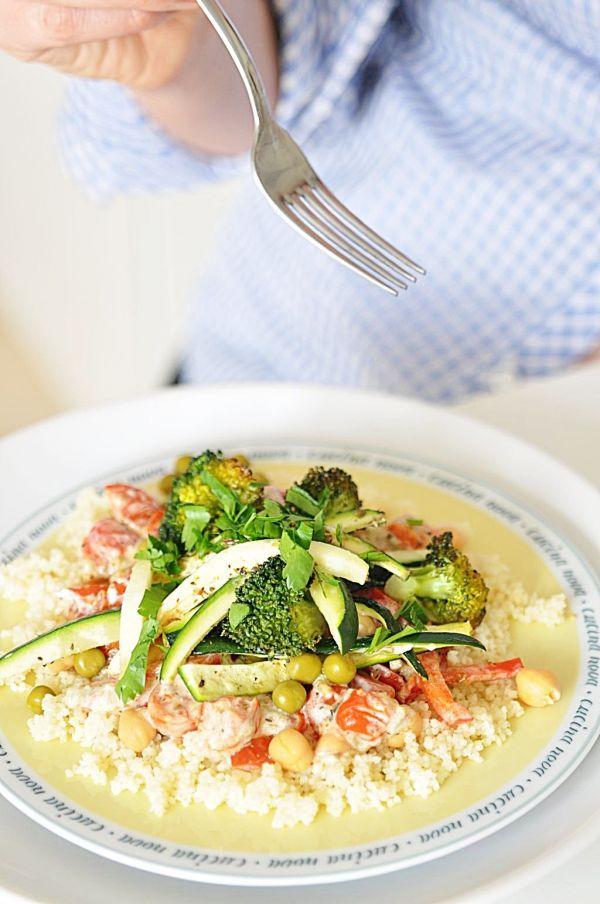 Grillowane warzywa i kasza kuskus z jogurtem greckim!