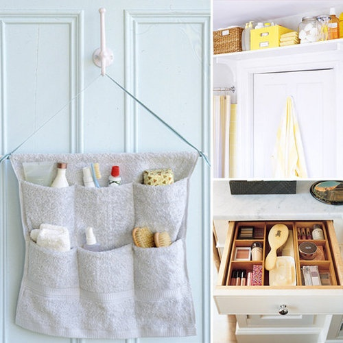 8 Smart Ideas For Bathroom Organization  Puddles, toothpaste messes, potty training mishaps...keeping family bathrooms clean is never an easy task! Getting organized can help minimize the mess, so we've rounded up 8 smart ideas for the family bathroom.