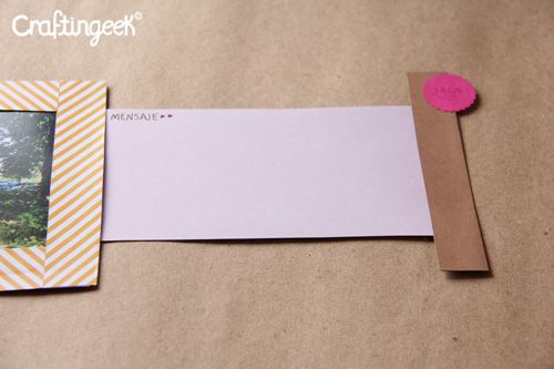 Fotomensaje: manualidad sencilla de papel