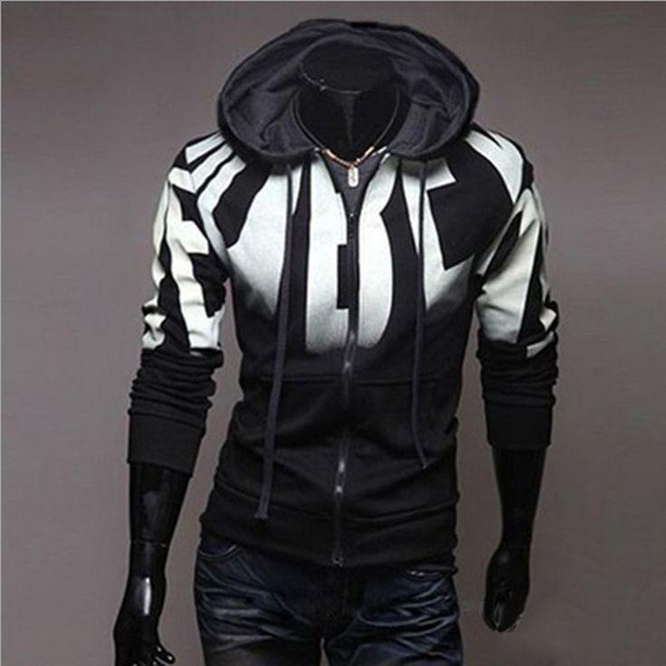 Brand 2017 Hoodie Zipper Gradient Cardigan Hoodies Men Fashion Tracksuit Male Sweatshirt Hoody Mens Purpose Large Size 4XL