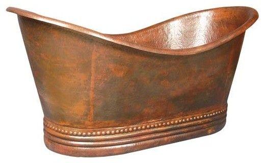 Copper Bathtub - No Faucet Holes