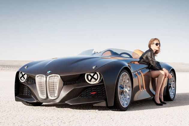 BMW 328 Hommage. She will never know what she is sitting in.