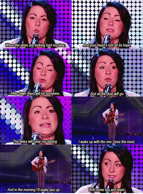 Lucy Spraggan - Tea & Toast. I cannot get over how perfect this song is. And it makes me cry every time!
