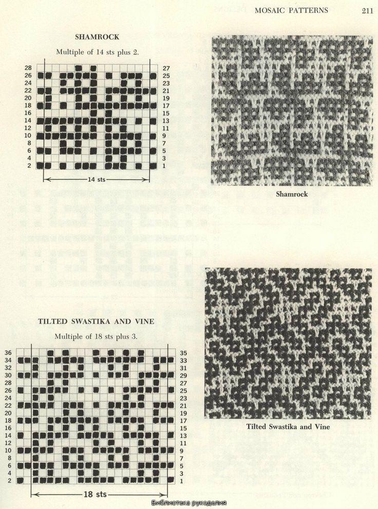 мозаичные узоры спицами - Поиск в Google