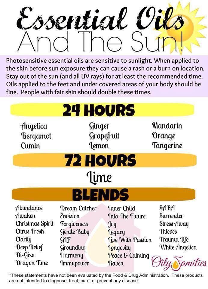 Young Living Essential Oils: Photosensitive Photosensitivity Sun Exposure Sunlight