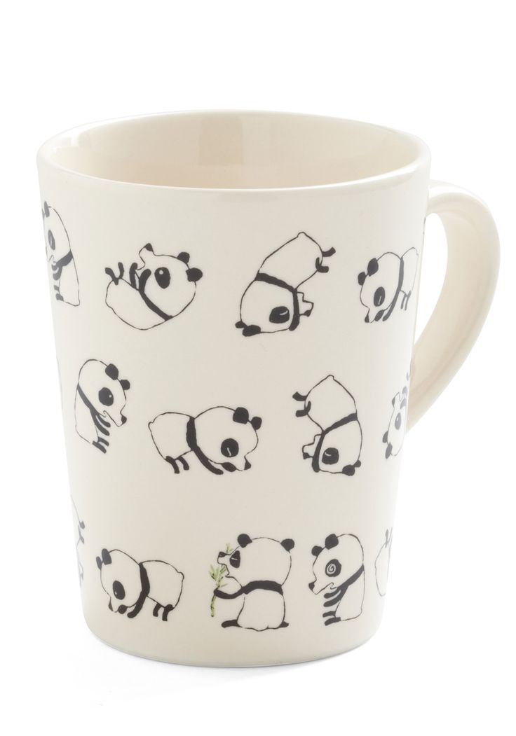 I want lol this is so cute too bad its out of stock right now. Rolly Polly Panda Mug - White, Black
