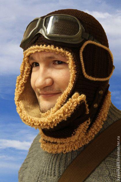 Шапка - шлем лётчика Первым делом самолёты - коричневый,шапка пилота