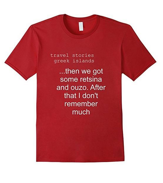 This is a version of my Travel Stories T Shirt Range that are exclusive to Amazon for $19.99.