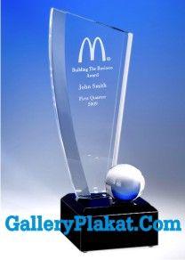 plakat resin mc donald award