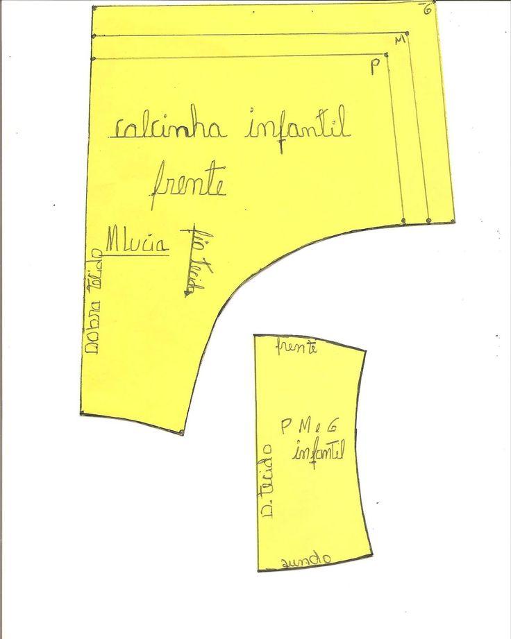 Agulha de ouro Ateliê: MOLDE DE CALCINHA INFANTIL P M e G                                                                                                                                                      Mais