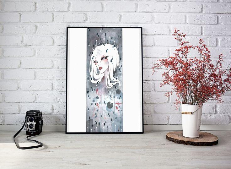 Mizuumi - l'antica ninfa dello specchio d'acqua di MCateArt su Etsy