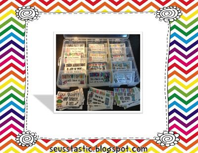 Reward Coupons Set #2 65 coupons that don't cost a thing! Great companion with PBIS!