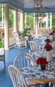 Bartow....what a beautiful Inn!  Love the outdoor porch dining....and so close by!