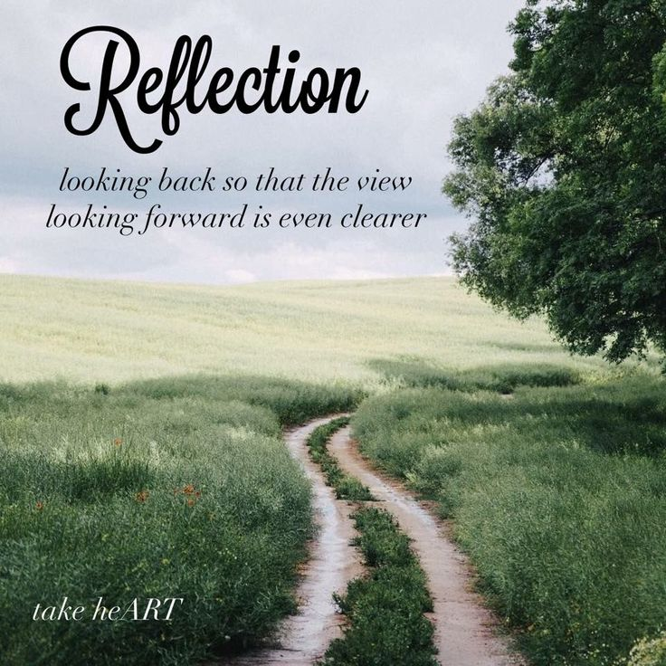 Reflection quote. Move forward. New year