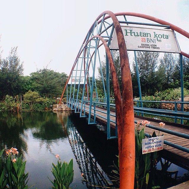 regram @mermuslihaty Thanks To BNI, semoga hutan kota akan terus menghijau di kota madani tercinta... Tlg di jaga sama-sama yaa  Loc: Hutan kota BNI, Banda Aceh.  #hijaubanda #insta_aceh