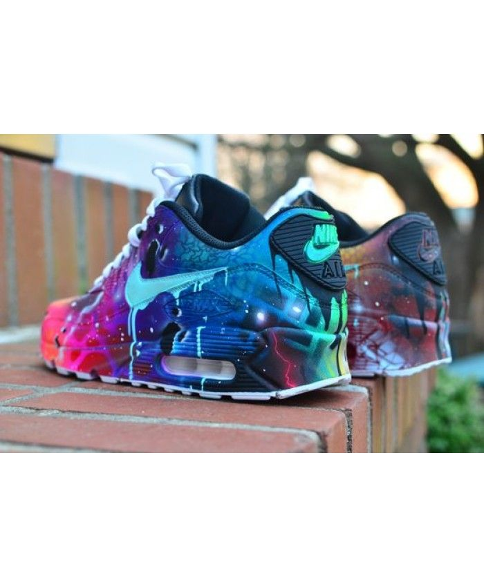 Cheap Nike Nike Air Max 90 Candy Drip Pink Purple Royal Blue Trainer Sale UK