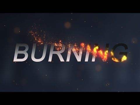 1 Burning Effect After Effects Tutorial With Trapcode