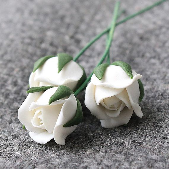 Polymer Clay Roses Flower 5 pcs Beads by JewelryFindingsByKat #Beads #PolymerClay #PolymerClayBeads #Beadsupplies #Beadingsupplies #JewelrySupplies
