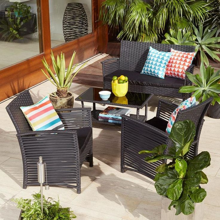 Outdoor Chairs Kmart Dark Brown Leather Dining K Mart Patio Furniture Ideas Pinterest