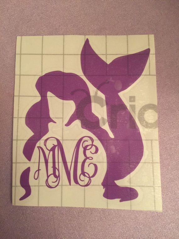 Little Mermaid Monogram Vinyl by MonogramsByTay on Etsy
