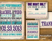 Concert Poster Wedding Invitation and Reply Card