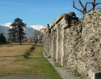 City walls in Aosta, Italy    http://aosta-valley.co.uk/monuments.htm