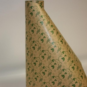 Green Kraft Design Gift Wrap