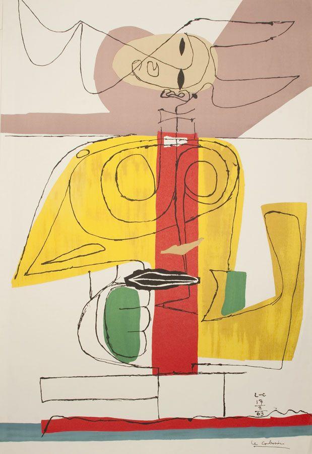 Le Corbusier - Taureau, 1963, lithograph