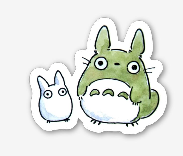 Totoro sticker available to order now at my store!