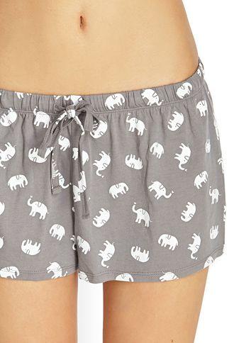 Irrelephant Elephant PJ Set   FOREVER 21
