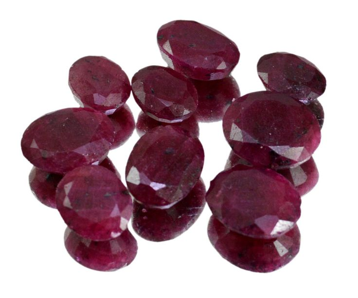 102ct / 9pcs Natural Red Ruby Faceted Loose Gemstones Wholesale Lot