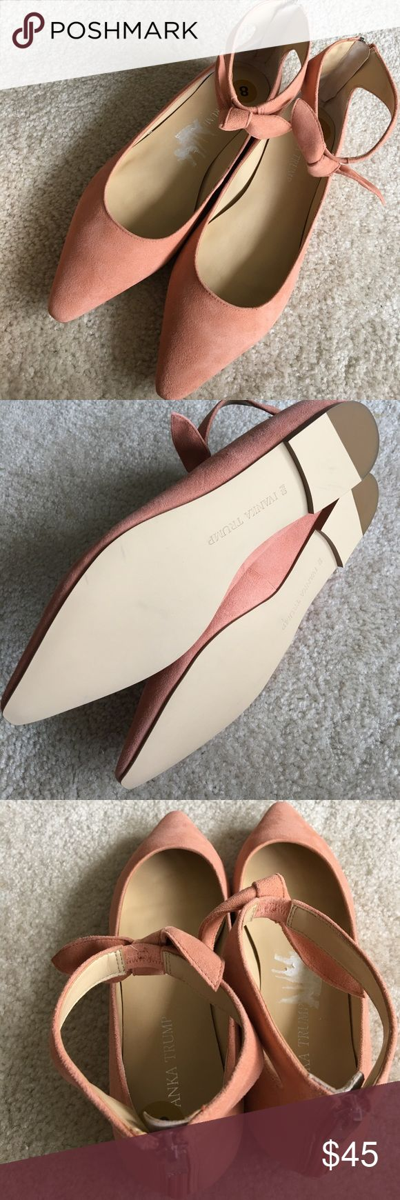 Ivanka Trump, Tramory Suede Ankle Strap size 8 Beautiful pointed flats for everyday wear, brand new, never worn, no box Ivanka Trump Shoes Flats & Loafers