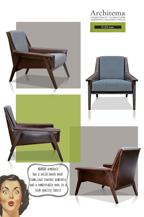 ARCHITEMA - MAKKAR armchair FIFTIES style