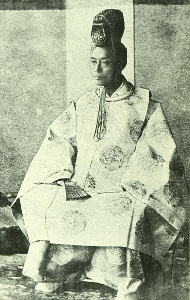 Japanese antique photograph. Tokugawa Yoshinobu (last Japanese shogun). 1837-1913. edo-era, Meiji-era, Taisho-era.