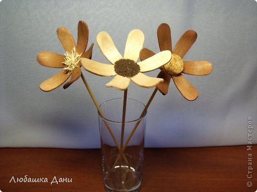 Мастер-класс Поделка изделие Моделирование конструирование Деревянные цветы МК Материал бросовый фото 1