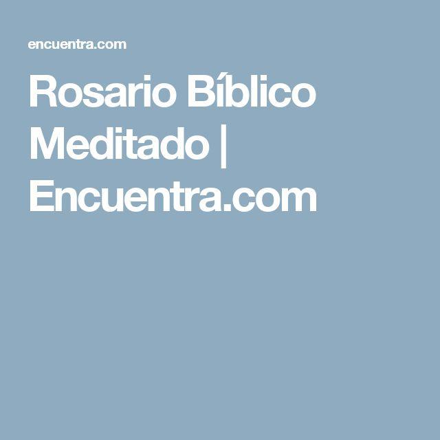 Rosario Bíblico Meditado | Encuentra.com